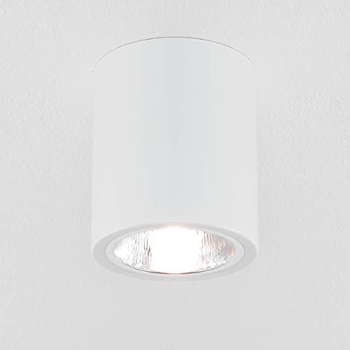 Elegante lámpara de techo blanca, diseño Bauhaus E27, hasta 60 W, 230 V, de metal, para pasillo, cocina o comedor