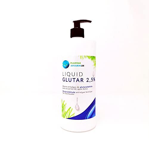 Glutaraldehido al 2,5% Antialgas Acuario 500 ml con ENVASE DISPENSADOR FÁCIL