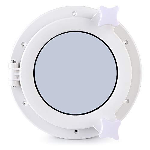 Tbest Ventanas de Ojo de Buey de Barco Redondo, iluminación de Ojo de Buey de 215 mm Redondo Ventilación Yate RV Portillas de Ventana de escotilla