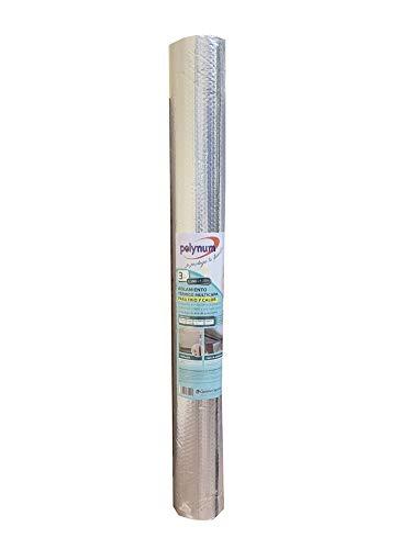 Optimer System - Aislamiento térmico reflexivo multicapa burbujas y aluminio para frío y calor - 3m2 - techos, paredes, contadores agua, cajones persiana, automoción y puertas garaje. Polynum