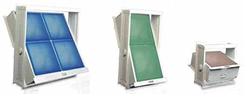 Marco, ventana abatible para bloques de vidrio, disponible en todas las medidas