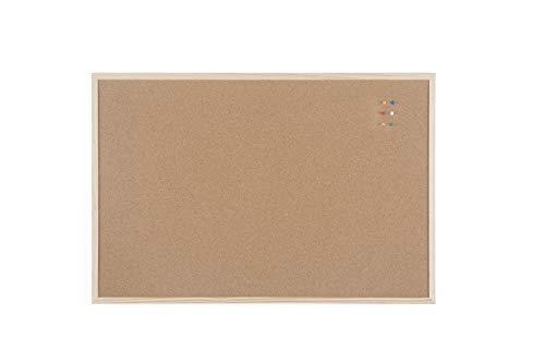 Bi-Office Budget - Tablero de corcho con marco de madera, 90 x 60 cm