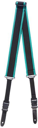 Bull Extremos de clip para correa de guitarra de nailon, 5 cm de ancho, negro/verde