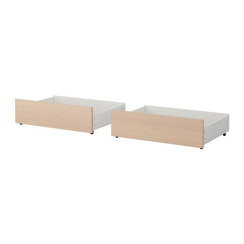 IKEA MALM IKEA Queen/King Size cama caja de almacenaje para cama de alta marrón blanco barnizado roble 102.646.94