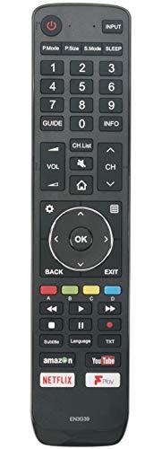 ALLIMITY EN3G39 Control Remoto reemplazado por Hisense UHD 4K TV H49N5500 H49N5500UK H43A6200 H43A6200UK H49N5500 H50N5300 H55A6200 H49N5700 H49N5700UK H65A6200 H65A6200UK H50A6200