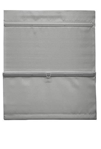 GARDINIA Easyfix - Estor magnético con Cinta de Velcro, Opaco, Todas Las Piezas de Montaje Incluidas, Gris, 90 x 140 cm (Ancho x Alto)