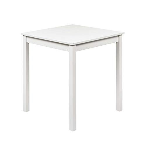 hagge home Mesa de comedor pequeña de madera de pino nórdico, de gestión forestal sostenible, 68 x 68 cm, altura 75 cm, color blanco