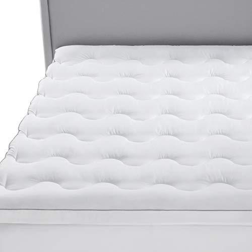 Bedsure Topper Colchón 160x200x5cm - Funda Colchón Cama 135 Acolchado, Protector Colchón Hipoalergénico Suave Transpirable de Microfibra