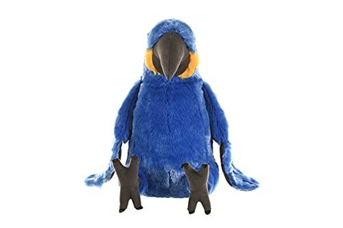 Wild Republic-10934 Peluche Guacamayo Jacinto Cuddlekins, Color Negro/Azul/Amarillo (10934)
