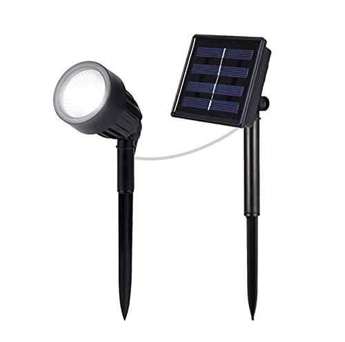 Lámpara solar de jardín de 3 W, resistente al agua IP66, lámpara solar LED, lámpara solar exterior, 1 pieza con estaca, para árboles, arbustos, caminos, césped, patio 6000 K, blanco frío