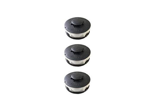 3 bobinas de hilo doble de repuesto para cortabordes eléctricas, adecuadas para Bauhaus Gardol GET-E 4530 (EINHELL)