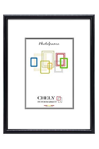 Chely Intermarket, Marco de Fotos 50x70 cm (Negro) Grandes para Pared MOD-312. Decoración   Fotografías de Boda   Listado de Precio   Certificados universitarios(312-50x70-1,30)