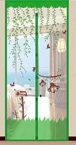 WYBD.Y Cortina de Mosquito de Verano Dormitorio casero magnético Cortina de Insectos Anti-Mosca Pantalla de imán de autoabsorción Puerta de Pantalla Suave, B, 90 * 210 cm Vida útil