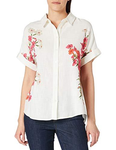 Desigual CAM_GRISOL Camiseta, Blanco, L para Mujer