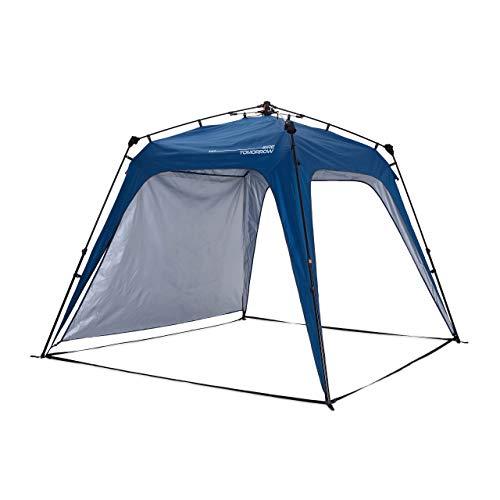 Lumaland x Where Tomorrow Gazebo de Camping – 1 Pared Lateral Incluido - Carpa de jardín – Cenador para Patio – Ideal para Acampada/Festival – Instalación Fácil – Azul
