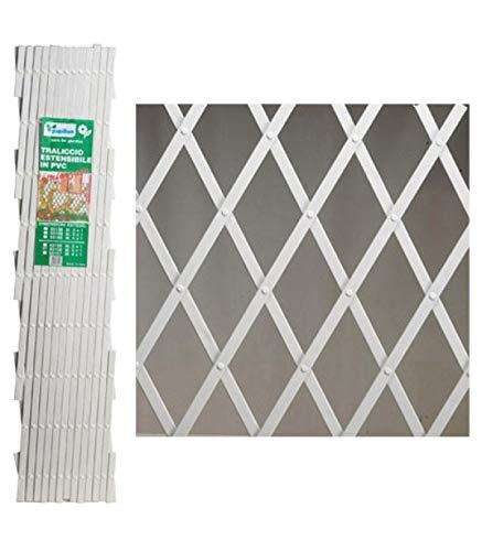 PAPILLON 8091530 Celosia PVC Blanca Extensible 2x1 Metros, 2x1m