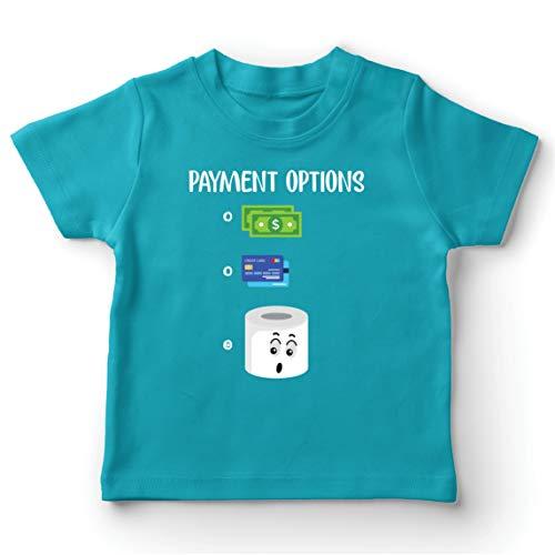 lepni.me Camiseta para Niño/Niña Cuarentena 2020 Escasez de Papel higiénico para el Pago más Preferido (12-13 Years Azul Claro Multicolor)