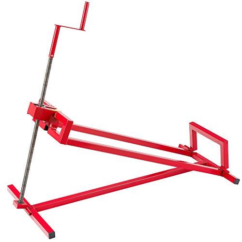 AREBOS Elevador de Tractor Dispositivo de elevación   400 kg   Rojo   Ángulo de inclinación: 45°