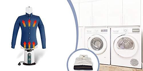 TECHNOSMART 8719831794768 850W Máquina Planchado para Camisas y Blusas, Tallas XS a XXL, 65 °C, Aire Caliente y frío, 850 W, Secado automático y plancha