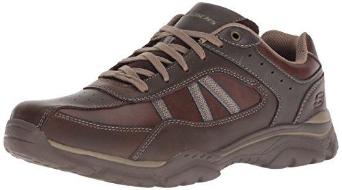 Skechers Rovato-Texon, Zapatillas Hombre, Negro (Choc Black Taupe Leather), 43 EU