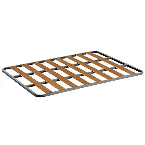 HOGAR24 Somier de Acero con láminas de chopo. Fabricación Nacional. 105x180cm-SIN Patas