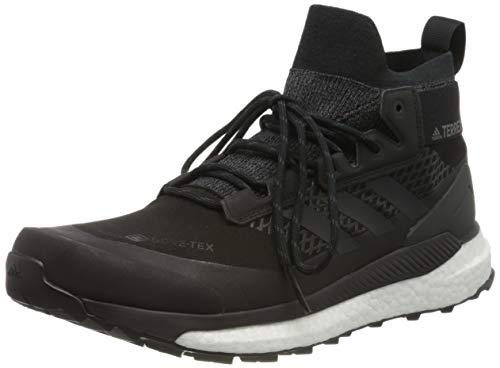 adidas Terrex Free Hiker GTX, Zapatillas para Carreras de montaña Hombre, Núcleo Negro Gris Tres F17 Naranja Activo, 44 EU