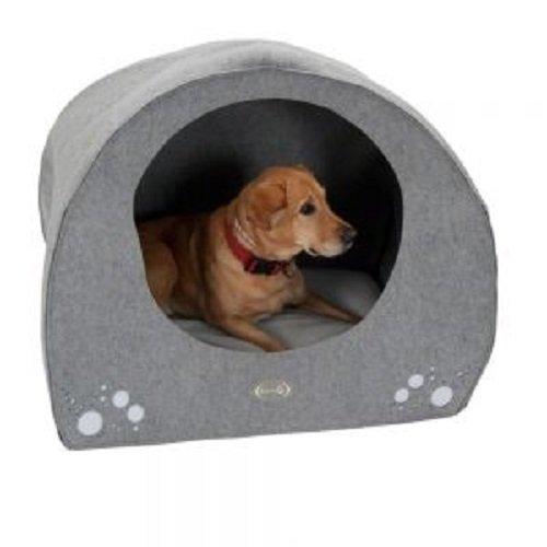 Zooplus Cama de perro lavable iglú cómodo medio interior den