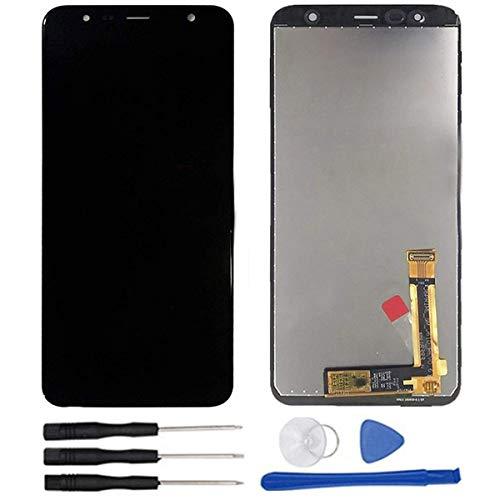 soliocial Asamblea Reemplazo Pantalla LCD Pantalla Táctil Vidrio para Galaxy J4+ 2018 / Galaxy J4 Plus 2018 SM-J415 J415G J415GN J415F J415FN/DS 6.0 Inch Negro