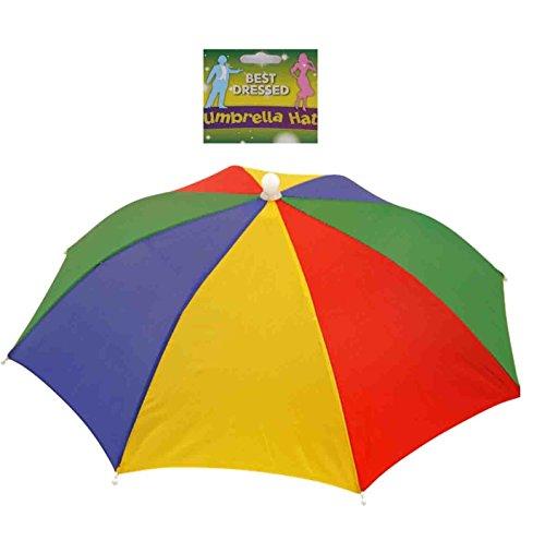 Sombrero con SOMBRILLA, Paraguas, Multicolor