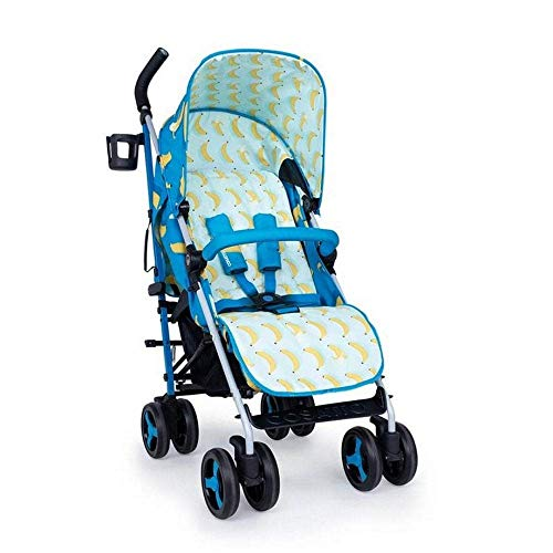 Cosatto Supa 3 Pushchair – Lightweight Stroller from Birth to 25kg   Compact Fold, Large Shopping Basket, Footmuff (Go Bananas)