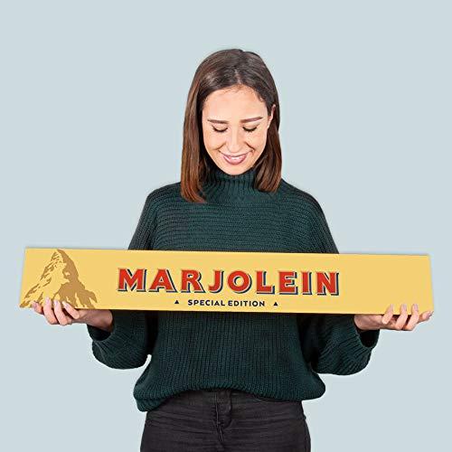 Toblerone gigante personalizado con Nombre - Barra de Toblerone gigante leche y chocolate, miel, almendras y turrón personalizado con Nombre o Texto (XXL - 4.5 kilos)