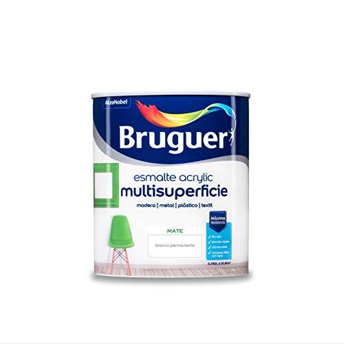 Bruguer Acrylic Multisuperficie Esmalte al agua Mate Blanco Permanente 750 ml