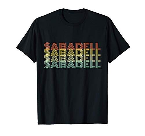 Sabadell Retro Inicio Vintage Ciudad Natal Camiseta