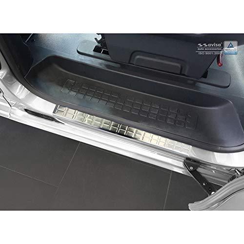 Avisa 2/16302 Umbrales Inoxidable Compatible con Citroën Spacetourer/Peugeot Traveller/Toyota Proace 2016-'Rectangles' -2-Piezas Puertas deslizantes traseras, Plata