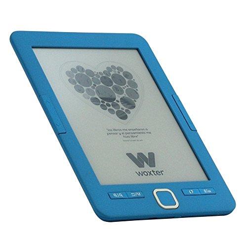 Woxter E-Book Scriba 195 Blue- Lector de Libros electrónicos 6' (1024x758, E-Ink Pearl Pantalla más Blanca, EPUB, PDF) Micro SD, Guarda más de 4000 Libros, Textura engomada, Color Azul