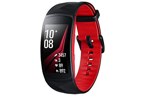 Samsung Gear Fit 2 Pro - Pulsera de Fitness de 1.5'' (4 GB, 1 GHz, 0.5 GB RAM, Tizen), resistente al agua, color rojo/negro - Versión española