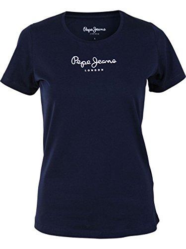 Pepe Jeans New Virginia PL502711 Camiseta, Azul (Navy 595), Medium para Mujer
