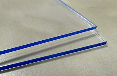 Laserplast Placa de metacrilato transparente 5mm A6 DINA6 (105 x 148 mm) - Varios tamaños A0 A1 A2 A3 A4 A5 - Placa Acrilico transparente - Plancha Hoja Metacrilato - Lamina plástico - PMMA