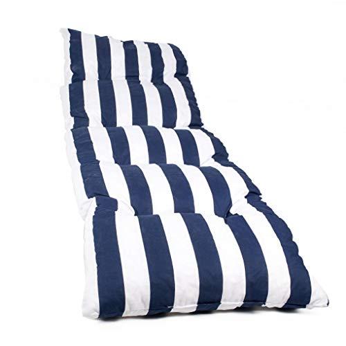Dabuty Online, S.L. Colchón Tumbona Acolchada Classic Texturas (Rayas Azul) 180 x 55 x 8 cm