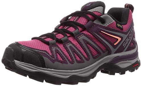 Salomon X Ultra 3 Prime GTX W, Zapatillas de Senderismo Mujer, Violeta (Malaga/Potent Purple/Desert Flower), 36 EU