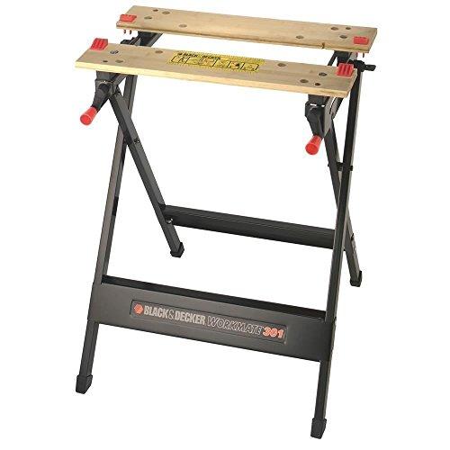 Black+Decker WM301 Workmate - Banco de Trabajo, Bambú y Acero, Carga Máxima 160 kg