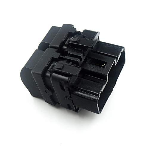 Ventana de botón Interruptor/Ajuste for Renault Trafic II/Ajuste for Megane II/for Opel Vivaro 2002-2014 8200315034 (Color : Black1)