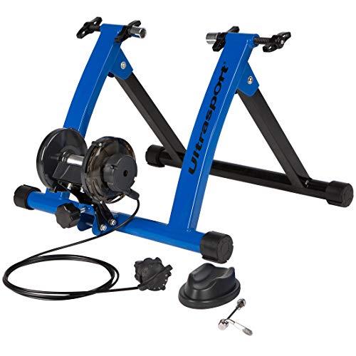 Ultrasport Rodillo para Bicicleta con y Sin Cierre Rápido, Carga Máxima 100 kg, Permite Entrenar en Casa, Entrenamiento de Ciclismo Interior, Unisex, 26 o 29 pulgadas Azul