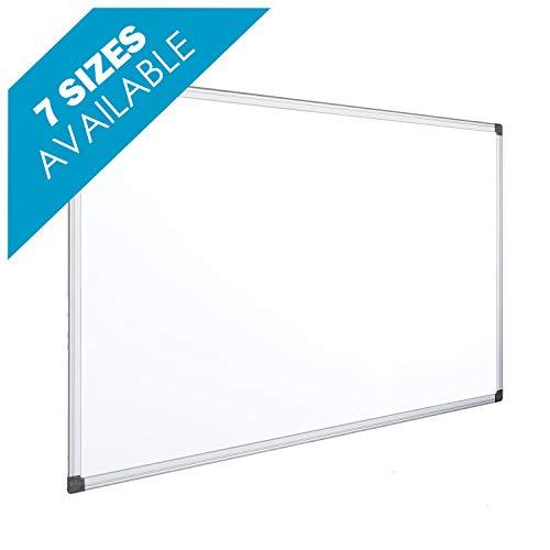 OFITURIA Pizarra Blanca Magnética Lacada Con Marco De Aluminio Resistente Fácil De Borrar En Seco, Medida 90x60cm