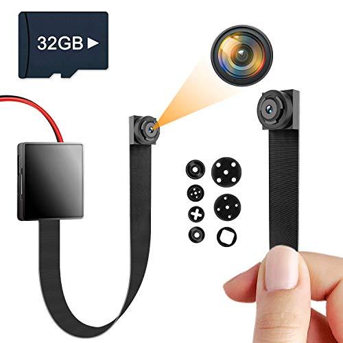 Mini Cámara Espía Oculta, Igzyz 1080P Cámara portátil 11 Horas de duración de la batería Cámaras de vigilancia de Seguridad para el hogar con detección de Movimiento (Incluye Tarjeta SD de 32 GB)