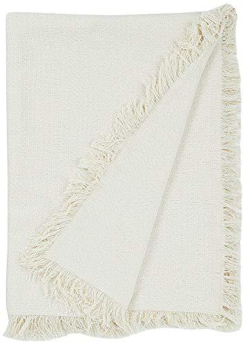 Martina Home Espiga Foulard Multiusos, 80% Algodón, 20% Poliéster, Crudo, 130 x 180 cm
