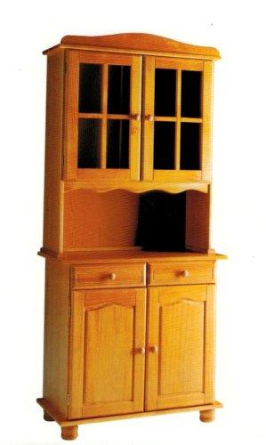 La Factoría Muebles - Alacena 2 puertas en pino macizo, talla 88 x 197 x 42cm