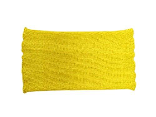 Banda de vientre unisex 100% lana de merino para el vientre, para la cintura, para embarazadas, mujeres y hombres, tejida Amarillo amarillo 80