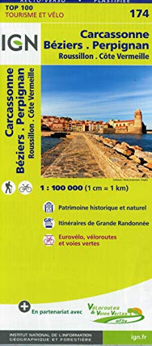 Carcassonne / Beziers / Perpignan (2017): TOP 100 Tourisme et Vélo / Roussillon, Côte Vermeille: 174 (Top 100 Tourisme et découverte)