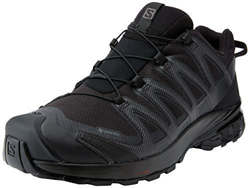 Salomon XA Pro 3D V8 GTX, Zapatillas De Trail Running Y Sanderismo Impermeables Versión Màs Ligera Hombre, Color: Negro (Black/Black/Black), 44 EU